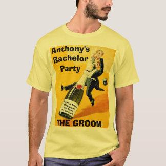 Fiestas de encargo divertidos del soltero y de camiseta