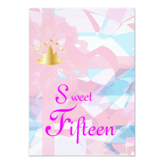 Fifxteen-Personalizar dulce Invitación 12,7 X 17,8 Cm