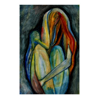 Figura abstracta pintada a mano bella arte de la