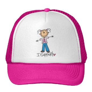 Figura ayuda del palillo del cáncer de pecho gorra