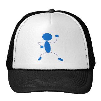 Figura azul baile del palillo gorra