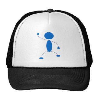 Figura azul baile del palillo gorros