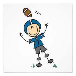 Figura azul del palillo del fútbol anuncio personalizado