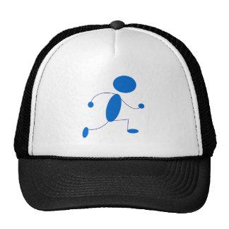 Figura azul funcionamiento del palillo gorras