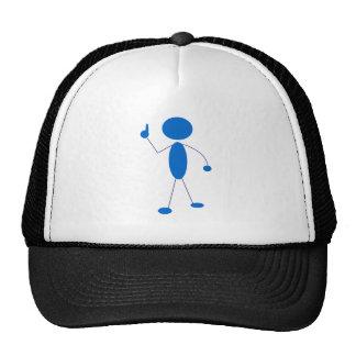 Figura azul número uno del palillo gorra