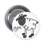 Figura botón del palillo de las ovejas