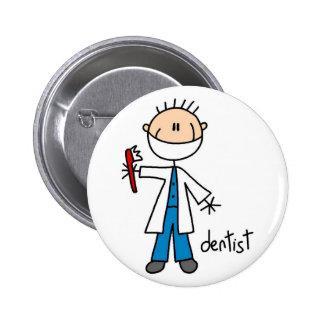 Figura botón del palillo del dentista pins