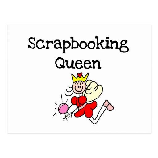 Figura camisetas y regalos del palillo de la reina postal