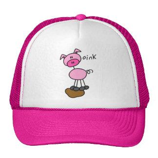 Figura camisetas y regalos del palillo del cerdo gorro de camionero