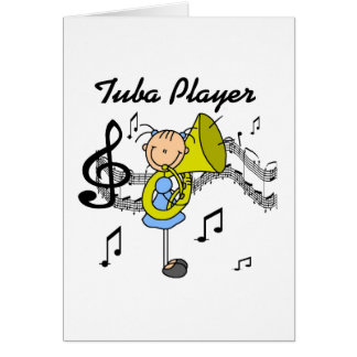 Figura camisetas y regalos del palillo del jugador tarjeta pequeña