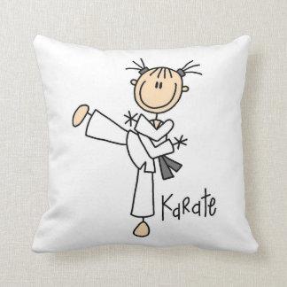 Figura camisetas y regalos del palillo del karate cojín decorativo