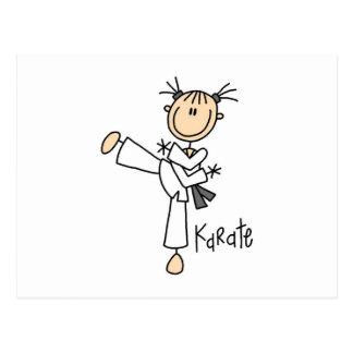 Figura camisetas y regalos del palillo del karate postal