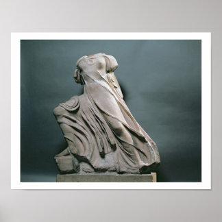 Figura de la ninfa, acroterion del templo de Phiga Póster
