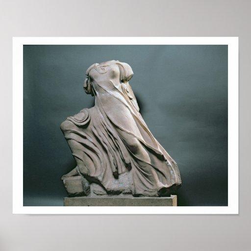 Figura de la ninfa, acroterion del templo de Phiga Posters