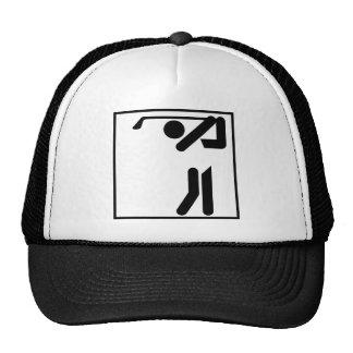 Figura del golfista gorras
