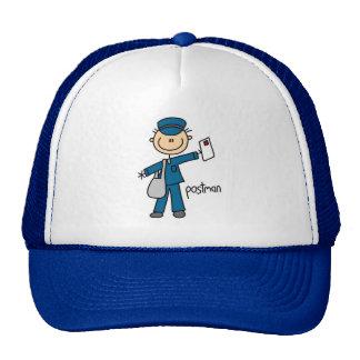 Figura del palillo del empleado de correos gorras de camionero