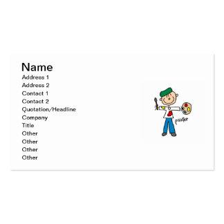 Figura del palillo del pintor tarjetas de visita