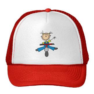 Figura del palillo en el gorra de la vespa