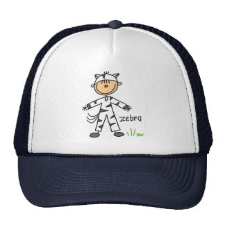 Figura del palillo en gorra del juego de la cebra