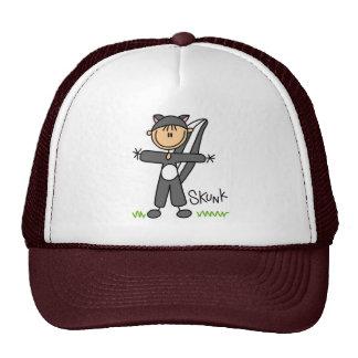 Figura del palillo en gorra del juego de la mofeta