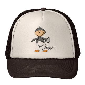 Figura del palillo en gorra del juego de pingüino