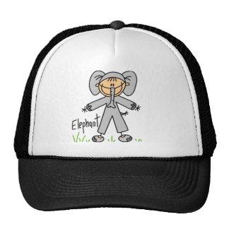 Figura del palillo en gorra del juego del elefante