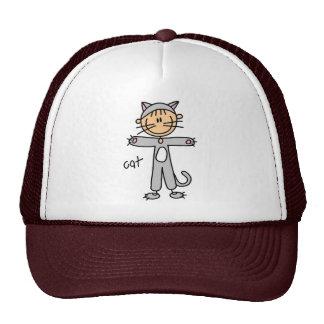 Figura del palillo en gorra del juego del gato