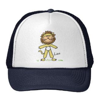 Figura del palillo en gorra del juego del león