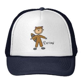 Figura del palillo en gorra del juego del mapache