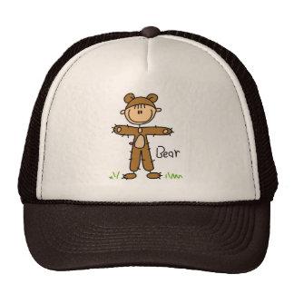 Figura del palillo en gorra del juego del oso