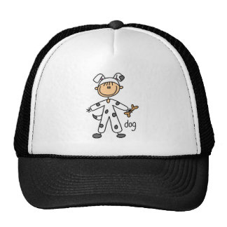 Figura del palillo en gorra del juego del perro