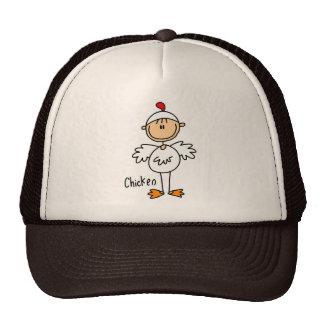 Figura del palillo en gorra del juego del pollo