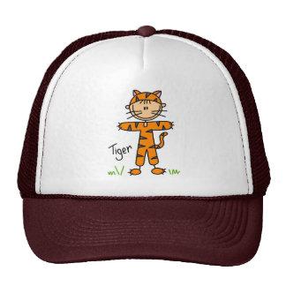 Figura del palillo en gorra del juego del tigre