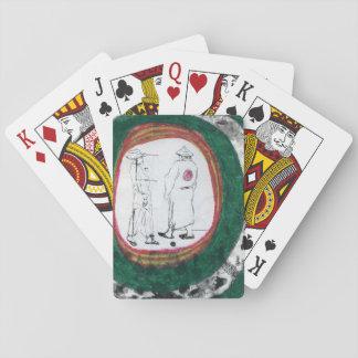 Figura dibujo con los trajes barajas de cartas