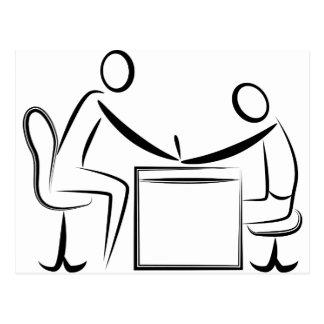 Figura dibujo del palillo de la manicura postal