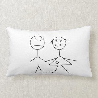 Figura divertida almohada del palillo de los pares