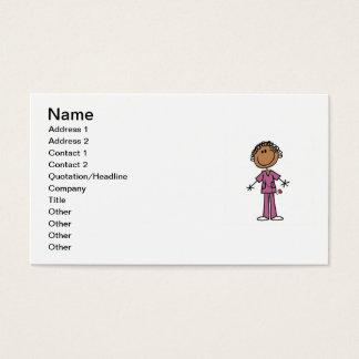 Figura femenina afroamericana enfermera del tarjeta de visita