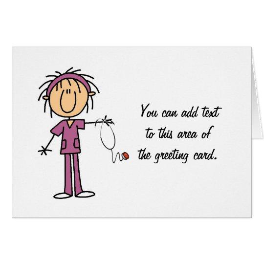 Figura femenina blanca camisetas y regalo del tarjeta de felicitación