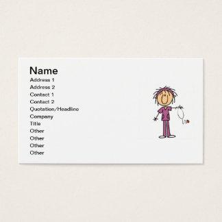 Figura femenina blanca camisetas y regalos del tarjeta de visita