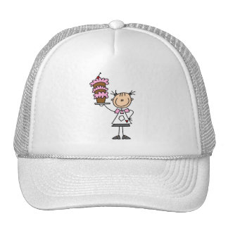 Figura femenina camisetas y regalos del palillo de gorras de camionero