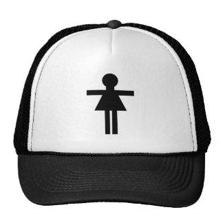 Figura femenina del palillo gorro de camionero