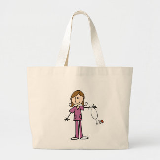Figura femenina enfermera del palillo del pelo de bolsa