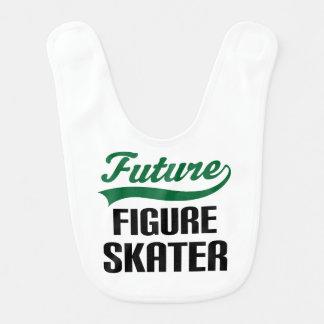 Figura futura babero del bebé del patinador