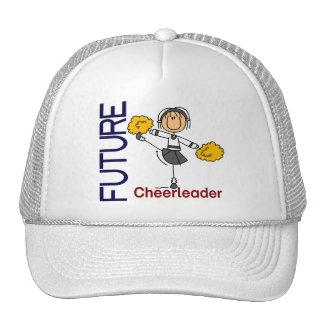 Figura futura del palillo de la animadora gorras de camionero