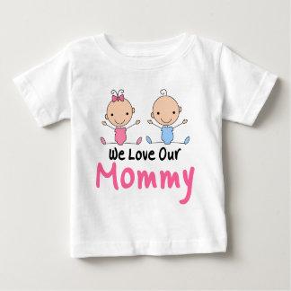 Figura gemela bebés del palillo del muchacho y del camisetas