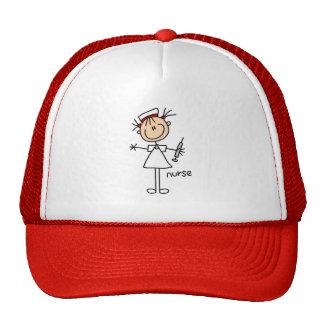 Figura gorra del palillo de la enfermera