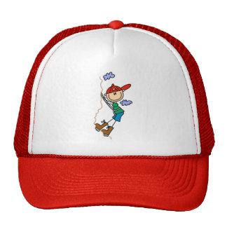 Figura gorra del palillo de la escalada