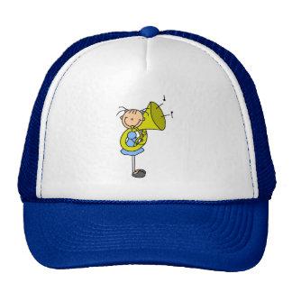 Figura gorra del palillo de la tuba