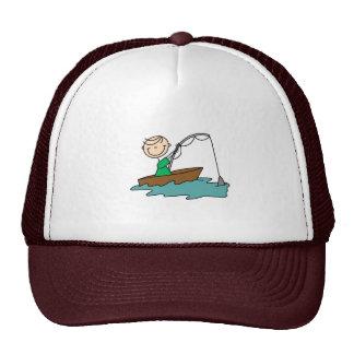 Figura gorra del palillo de pesca