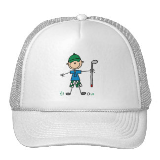 Figura gorra del palillo del golfista